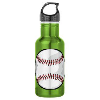 Neon Green Softball; Baseball Water Bottle