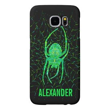Halloween Themed Neon Green Spider Spooky Arachnid Halloween Fun Samsung Galaxy S6 Case