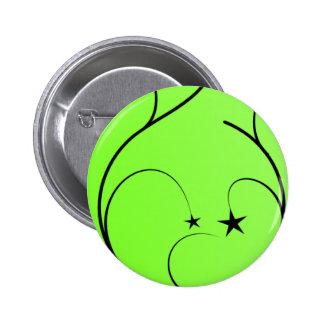 Neon green spiral button