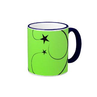 Neon green spiral mug