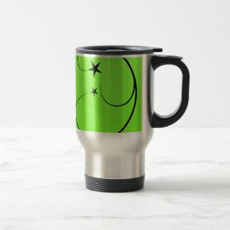 Neon green spiral travel mug