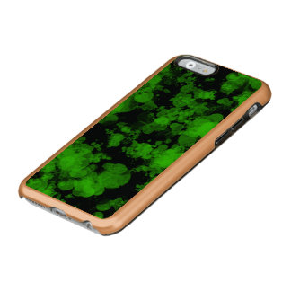 Neon Green Splash Rose Gold Incipio Feather Shine iPhone 6 Case