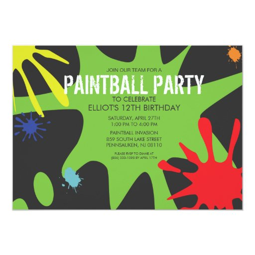 Green paintball splat
