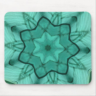 neon green star - abstract modern pattern design mouse pad