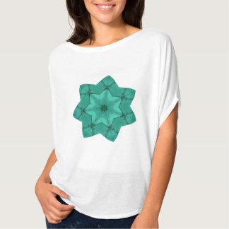neon green star - abstract modern pattern design t shirt