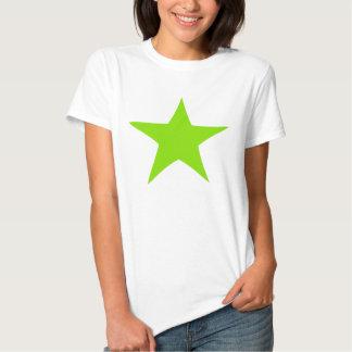 Neon Green Star Design T-shirt