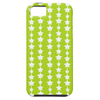Neon green starry stars chic cute star hot pattern iPhone SE/5/5s case