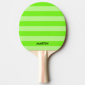 Neon green stripe table tennis ping pong paddle