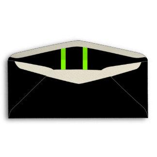 Neon Green Striped Envelopes