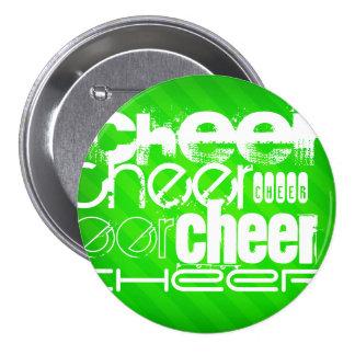 Neon Green Stripes Pinback Button