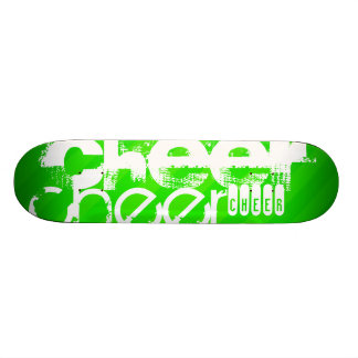 Neon Green Stripes Skateboard Deck