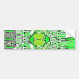 Neon green superfly design car bumper sticker