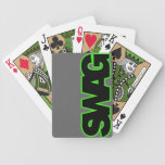 Neon Green SWAG Bicycle Playing Cards