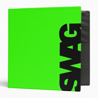 Neon Green SWAG Binder