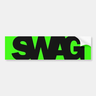 Neon Green SWAG Bumper Sticker