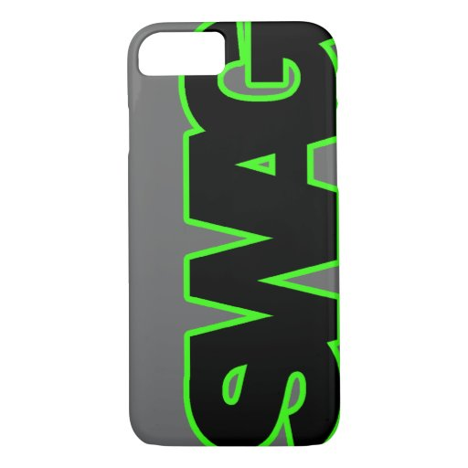 Case Design impact resistant phone case : Neon Green SWAG iPhone 7 Case : Zazzle