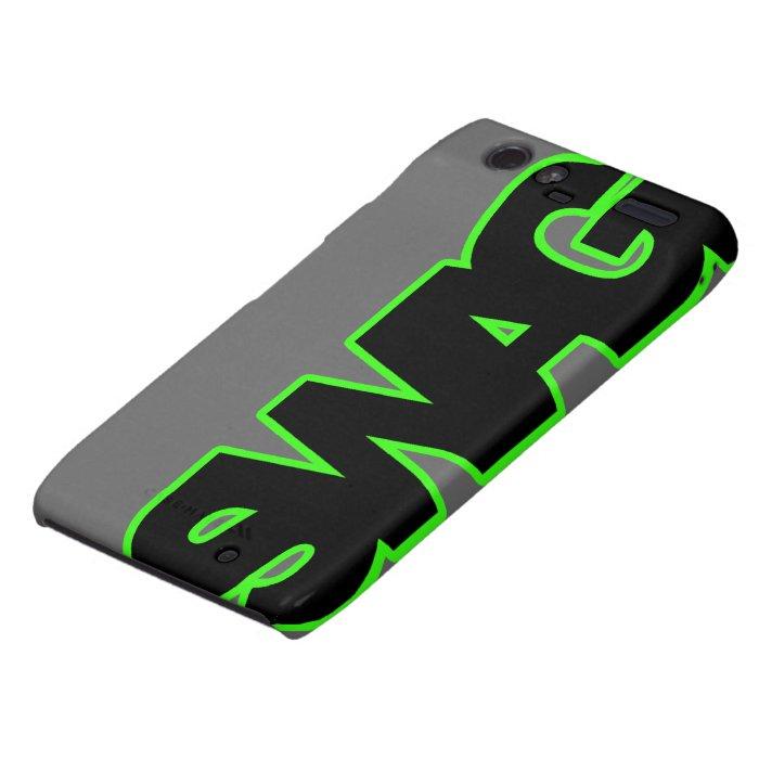 Neon Green SWAG Motorola Droid RAZR Case