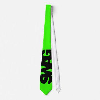 Neon Green SWAG Tie