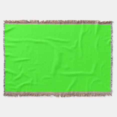 Neon Green Throw Blanket
