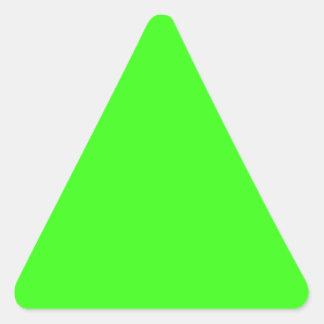 Neon Green Triangle Sticker