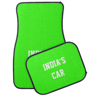 Neon Green Upscale Solid Color Name Floor Mat