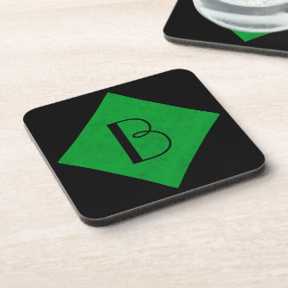 Neon Green Velvet Personalized Home Casino Coaster
