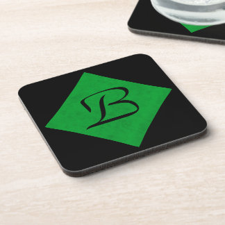 Neon Green Velvet Personalized Home Casino Coasters