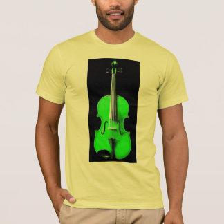 Neon Green Violin / Viola Design T-Shirt