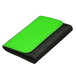 Neon Green Leather Wallet For Women
