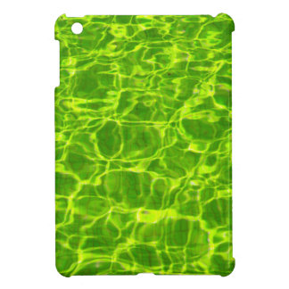 Neon Green Water Patterns Background Blank Modern iPad Mini Cover