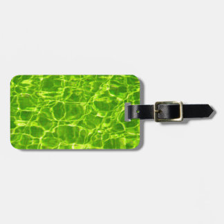Neon Green Water Patterns Background Blank Modern Luggage Tag
