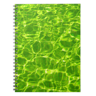 Neon Green Water Patterns Background Blank Modern Notebook