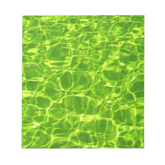 Neon Green Water Patterns Background Blank Modern Notepad