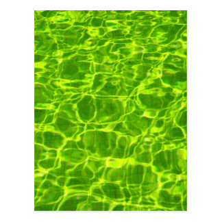 Neon Green Water Patterns Background Blank Modern Postcard