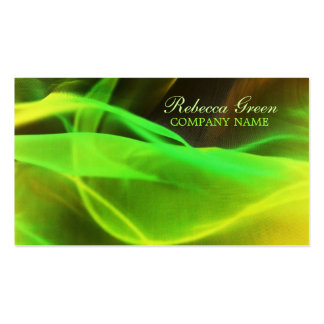 neon green waves abstract business promotional Double-Sided standard business cards (Pack of 100)