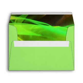 neon green waves abstract business promotional envelope