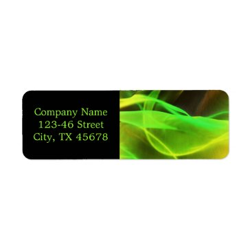 Lawyer Themed neon green waves abstract business promotional label