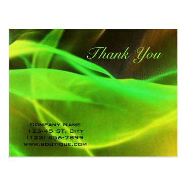 Lawyer Themed neon green waves abstract business promotional postcard