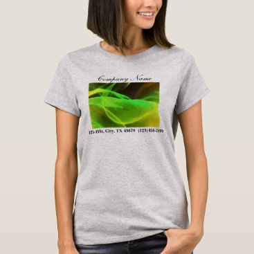 Lawyer Themed neon green waves abstract business promotional T-Shirt