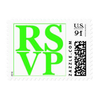 Neon Green Wedding RSVP Design Oversize Stamp