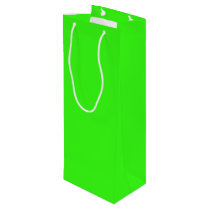 Neon Green Wine Gift Bag, Glossy Wine Gift Bag