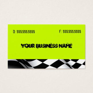 Neon Green with Flag Business Card