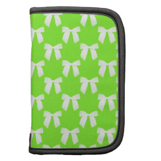 Neon Green With White Bow Planner