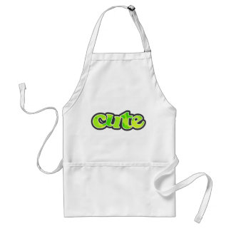 Neon Green Yellow Camo; Camouflage Adult Apron