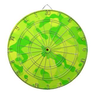Neon Green Yellow Camo; Camouflage Dartboard