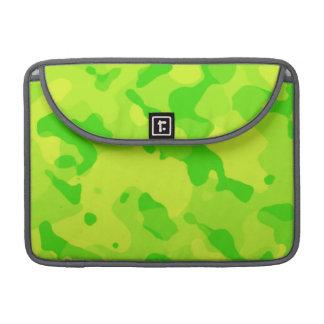 Neon Green Yellow Camo; Camouflage MacBook Pro Sleeve