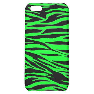 Neon Green Zebra Print iPhone 5C Case