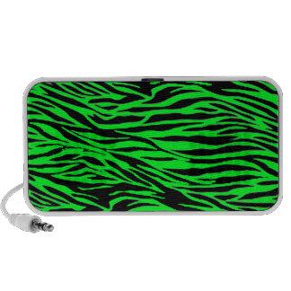 Neon Green Zebra Print PC Speakers