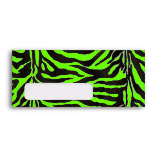 Neon Green Zebra Skin Texture Background Envelope