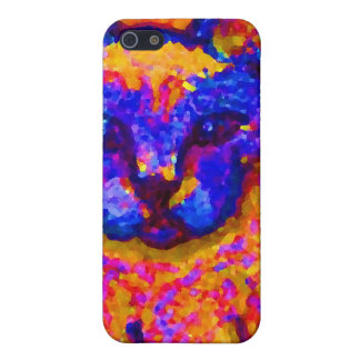 Neon Grey Cat CricketDiane Art & Design Cover For iPhone SE/5/5s